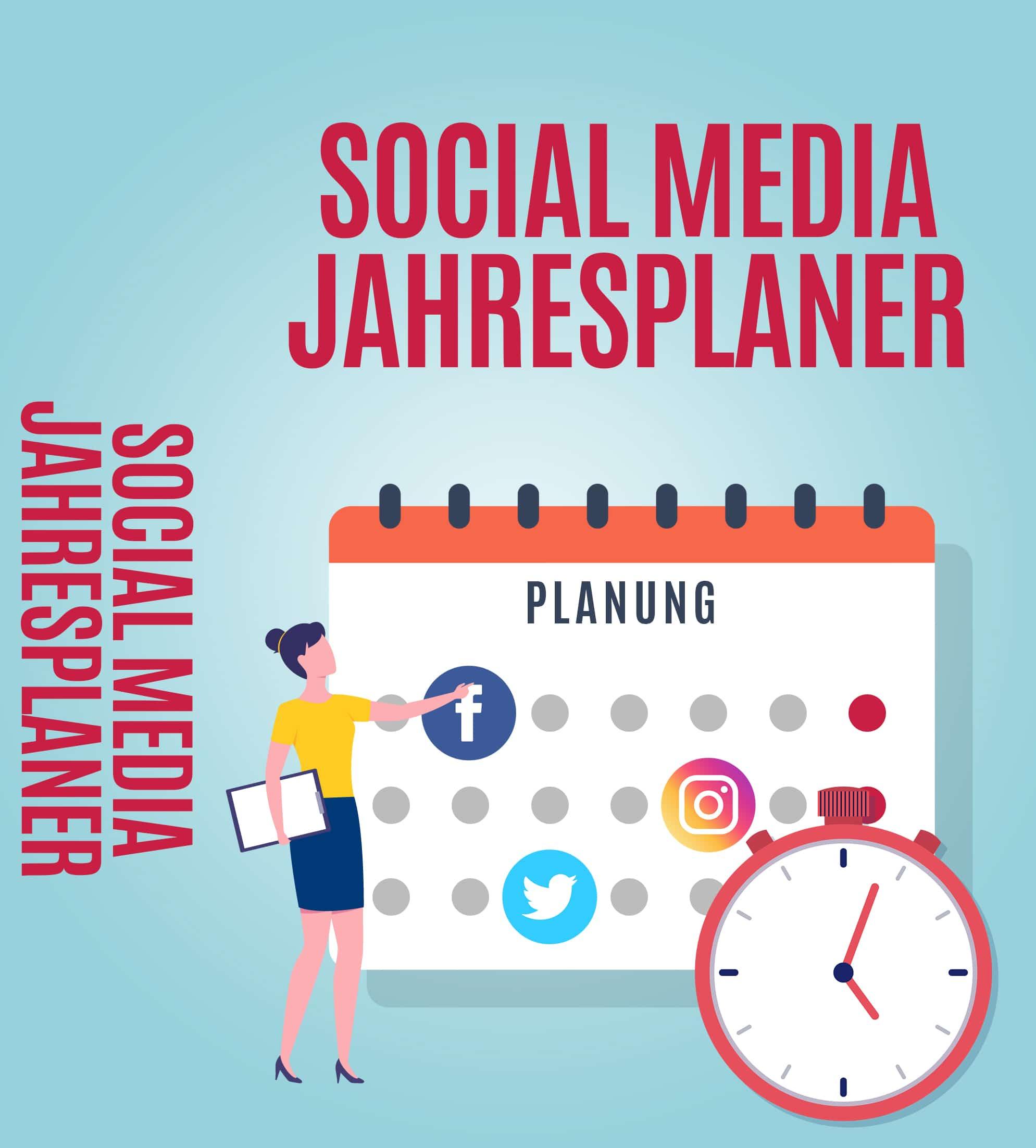 Social Media Jahresplaner